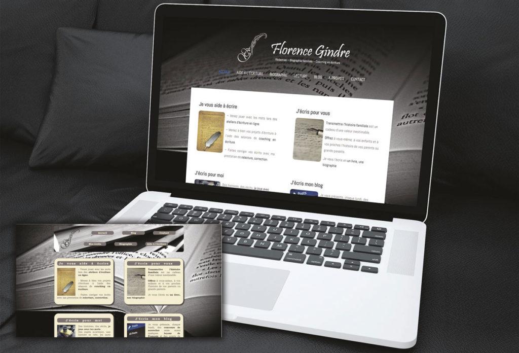 Refonte du site internet pour une écrivaine