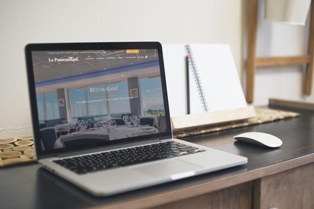 Création du site internet du restaurant le panoramique proche de saint vaast la hougue