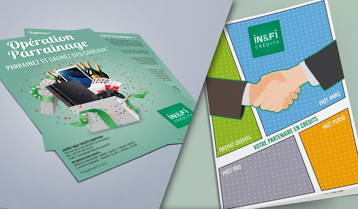 Création de Flyer et d'une pochette pour un courtier