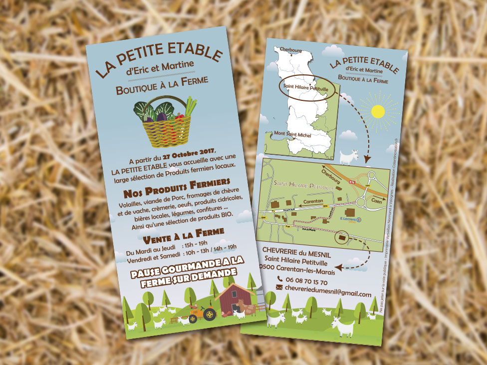 Création du flyer de la chévrerie du Mesnil de Saint Hilaire Petitville