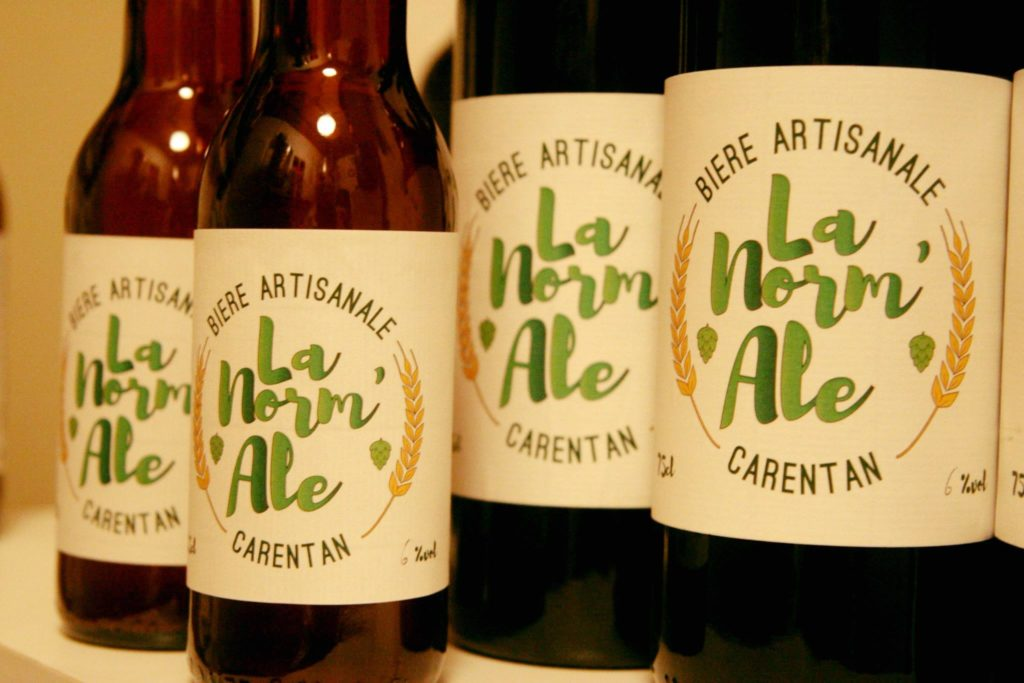 Création de l'étiquette de la bière La Norm'Ale pour la Brasserie Les Marais à Carentan