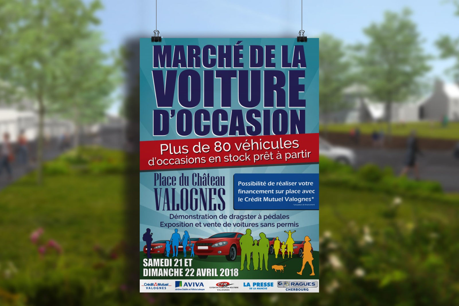 Création d'une affiche pour un événement sur Valognes