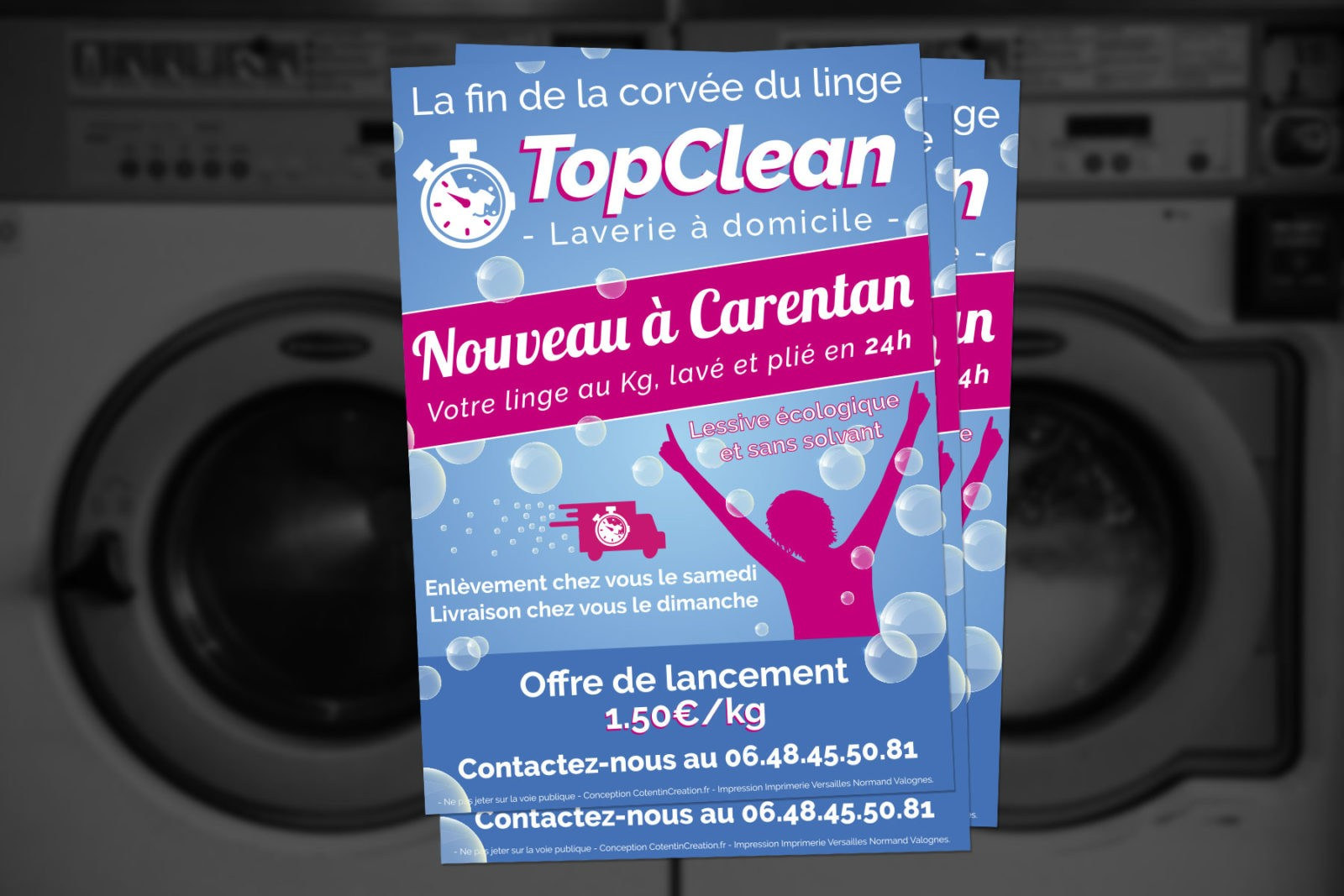 Création d'un flyer pour une entreprise de Carentan