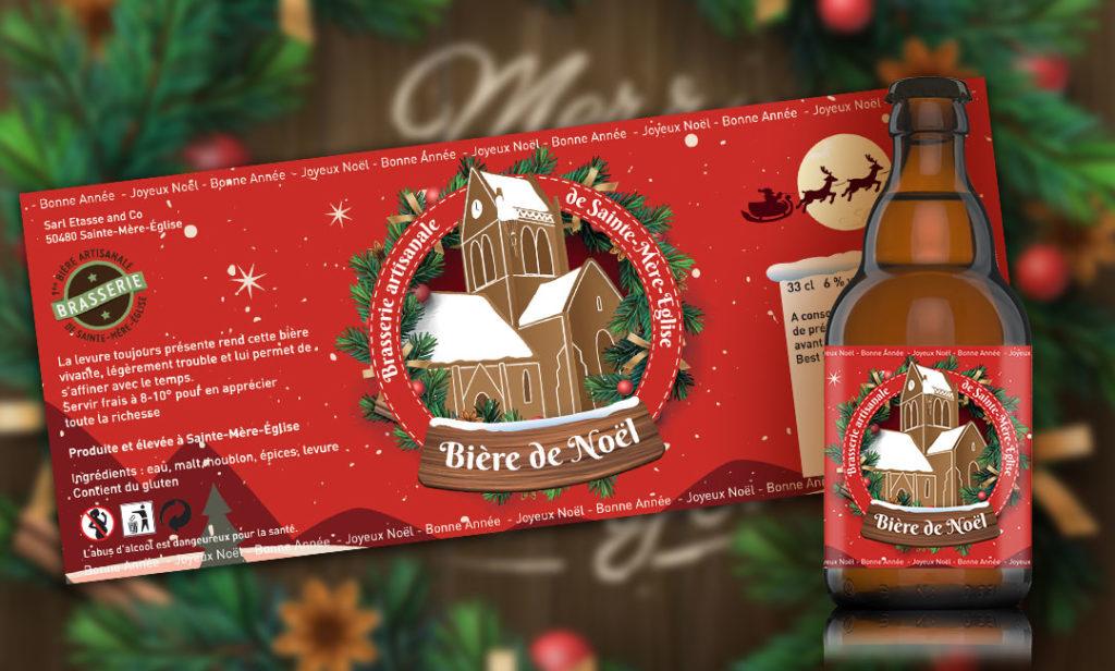 création d'une étiquette de bière pour la brasserie de Sainte Mère Eglise