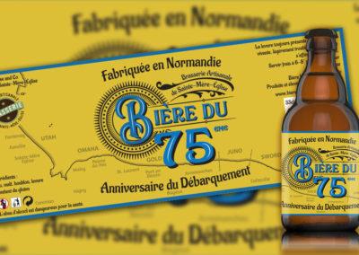 Étiquette «Bière du 75ème»
