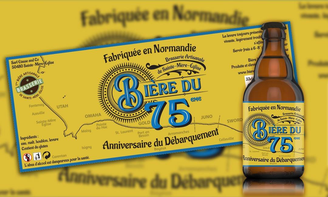 Etiquette de la Bière du 75ème anniversaire du débarquement