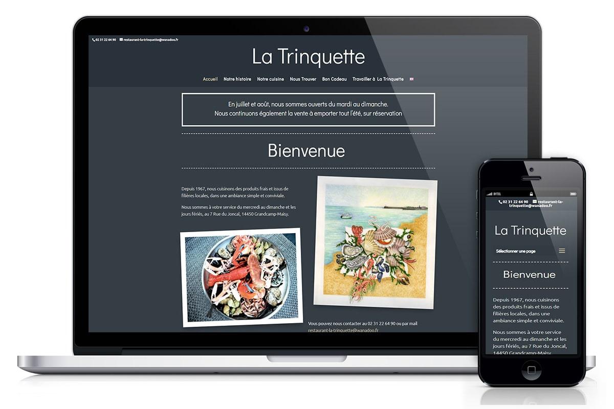 Site internet Restaurant La Trinquette